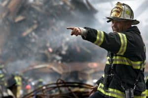 Fireman at Disaster